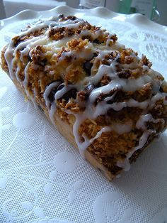Coconut cake with chocolate chunks and coconut drizzle - can be made in a loaf pan or mini cakes - versatile recipe Baking Recipes, Cake Recipes, Dessert Recipes, Just Desserts, Delicious Desserts, Yummy Food, Moist Cakes, Cupcake Cakes, Cupcakes