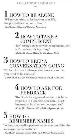 5 Skills everybody should have