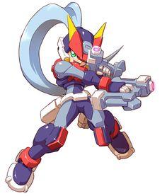 Ashe - Biometal Model A - Characters & Art - Mega Man ZX Advent
