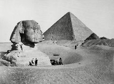 The Sphinx in 1877 prior to much of the sand being cleared away, exposing its paws.  I stood on those paws in 1977.