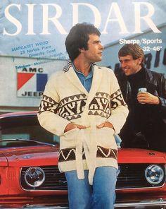 Vintage 1970 s Knitting Pattern Starsky & Hutch Style Jacket Sirdar 5753
