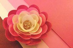 Glitter Paper Flower Tutorial