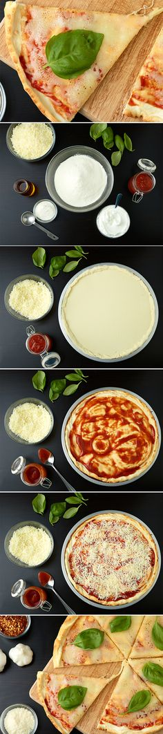 Quest Five Ingredient Pizza - This simple and EASY recipe will win your heart and make you forget about the delivery guy!(Five Ingredients Dinner) Protein Powder Recipes, High Protein Recipes, Protein Foods, Quest Protein, Protein Pizza, Ideal Protein, Healthy Snacks, Healthy Eating, Healthy Recipes