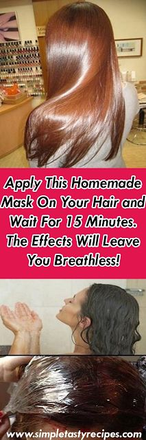Apply This Homemade Mask On Your Hair and Wait For 15 Minutes. The Effects Will Leave You Breathless! - Denise Benoit - - Apply This Homemade Mask On Your Hair and Wait For 15 Minutes. The Effects Will Leave You Breathless! Homemade Mask, Homemade Scrub, Homemade Sunscreen, Homemade Facials, Natural Hair Styles, Long Hair Styles, Natural Beauty, Tips Belleza, Natural Solutions