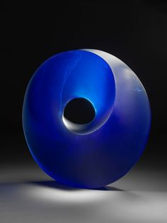 'Blue Tube', 2006, glass, by Peter Mandl (Swedish, born 1947).