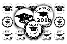 Graduation Image Sheet 1 Images 25mm Class by NatureInspireJewelry