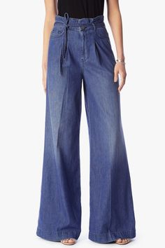 Wide Leg Palazzo Pant in Vintage Light