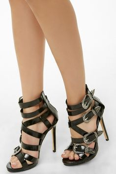 Forever 21 Lemon Drop by Privileged Strappy Stiletto Heels , Black Cute Heels, Lace Up Heels, Pumps Heels, Classy Heels, Stilettos, Black Stiletto Heels, Black High Heels, Heels Outfits, Prom Heels