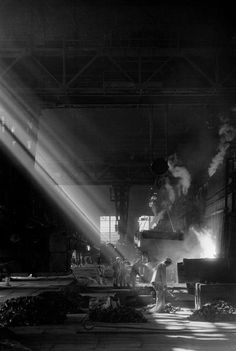 Ashan. Steel and iron mill. 1965 by RENE BURRI
