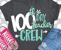 day of school svg 100 days svg teacher crew svg teacher SVG DXF EPS 100 days of school class svg hundredth day svg hundred by ShortsandLemons