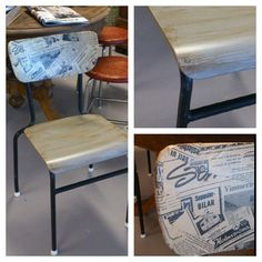 Chair with newspaper