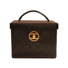 1990s Chanel Quilted Leather Trunk Case Handbag