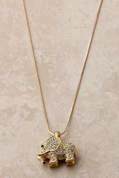 Pave Crystal Elephant Pendant | Emma Stine Jewelry Necklaces