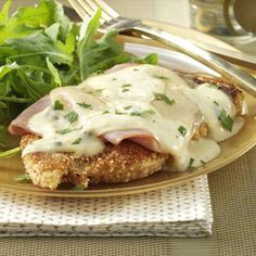 Stacked Chicken Cordon Bleu Recipe from Taste of Home -- shared by Angela Spengler, Clovis, New Mexico