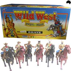 Cowboys & Indians Wild West Box Western Rider Set Horse Figures Figurine New