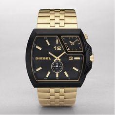 1c0191a098a6 Diesel watch- gold black with gold dial Style  DZ1408  147.50 Diesel Watch