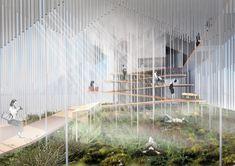 Image 5 of 13 from gallery of Malitis Architects' Proposal for Latvian Pavilion in Expo Dubai Courtesy of Mailitis Architects Pavilion Architecture, Architecture Collage, Chinese Architecture, Architecture Portfolio, Futuristic Architecture, School Architecture, Architecture Design, Dubai, Sound Installation
