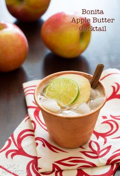 Looks amazing! A Spicy Perspective Apple Butter Recipe - Apple Cocktail @spicyperspectiv