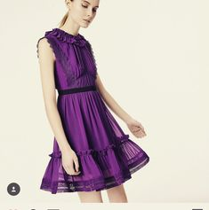 Purple crash 🎆🎆🎆🎆 #threefloor #UK10 #sizing #lastpieceleft Three Floor, Famous Brands, Purple, Mini, Shopping, Dresses, Fashion, Vestidos, Moda