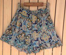 2014 Shorts de verão para mulheres crânio solto floral chiffon Shorts com cintura elástica - 4 padrões frete grátis(China (Mainland))