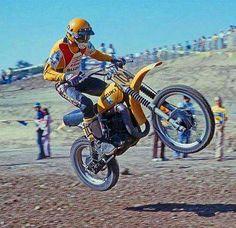 Roger De correr Suzuki RM 370