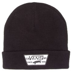 Buy Vans Milford Beanie Black at Europe's Sickest Longboard Store