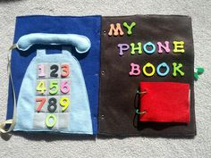 And Next Comes L: Telephone Quiet Book Pages...practice my phone number, emergency numbers....family numbers