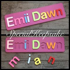 A personal favourite from my Etsy shop https://www.etsy.com/uk/listing/252246116/personalised-kids-jigsaw-puzzle-name