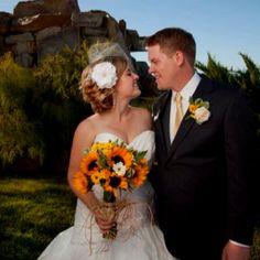 Sunflower wedding, Maggie Sottero Jenna dress