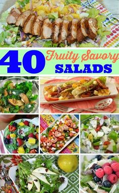 Refreshing, Fruity Salads perfect as light dinners, side dishes to a main meal & most definitely at a BBQ !