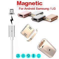 Precio de fábrica nuevo caliente micro usb cable adaptador de cargador magnético tapón metálico para android samsung lg oct20