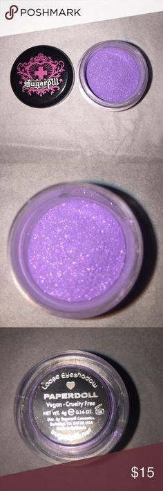 Sugarpill Cosmetics Loose Eyeshadow...NWOB This color is discontinued and longer sold.   This is brand new without the box.  Never been used. The lid is a little dinged due to being packed away. Settling may occur due to the loose powder. This is how I received it from the company. I've been holding onto it but I'm not going to ever use it   -Vegan -Cruelty Free  Color: Paperdoll   Size: Net WT. 4g (0.14 oz)(full size)  ❌NO TRADES ❌NO HOLDS ❌NO   My home is smoke free & pet free!!!! I do…