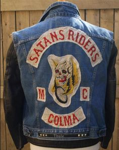 Motorcycle Gang Jacket Vest. Satan's Riders