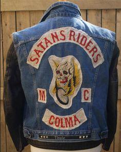 Motorcycle Gang Jacket Vest. Satan's Riders