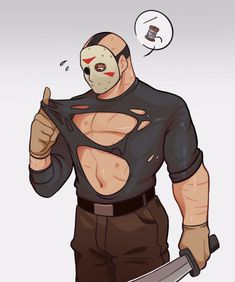 Horror Movies Funny, Scary Movies, Horror Icons, Horror Art, Scary Movie Characters, Horror Villains, Jason Voorhees, Cute Art, Anime Guys
