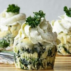 Spinach-Feta Muffins by Olaahmed