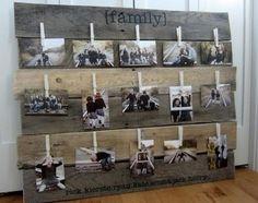 palette décoration extérieure | décoration intérieure palettes-bois-panneau-photos-familiales