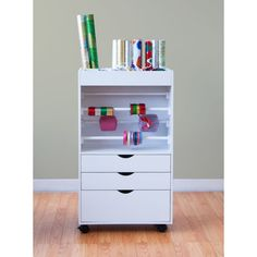 Studio Designs White Wrapping Cart | Overstock.com Shopping - The Best Prices on Studio Designs Other Crafts