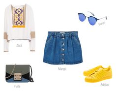 for weekend 2 by ireneconcello on Polyvore featuring Zara, MANGO, adidas Originals and Furla