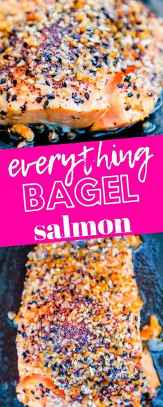 Easy Baked Everything Salmon Recipe – Sweet Cs Designs – Easy Baked Everything Bagel Salmon Recipe – the best easy baked salmon recipe burs. Seafood Dishes, Seafood Recipes, Appetizer Recipes, Fish And Seafood, Low Carb Recipes, Baking Recipes, Dessert Chef, Appetizer Dessert, Butter Salmon