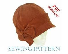 Free Cloche Hat Sewing Pattern - Bing images                                                                                                                                                                                 More