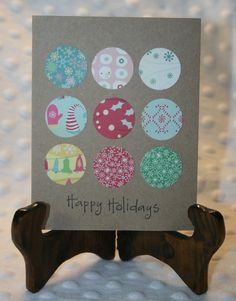 Happy Holidays- Handmade Greeting Card