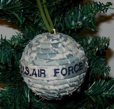 U S Air Force Ornament Military Christmas Gift by GreenSkyGifts