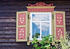Window on Lithuanian cottage