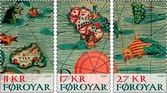 postage stamps from the Faroe Islands reproduce part of the map Carta Marina created in 1539. - Google Search