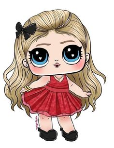 Cute Animal Drawings Kawaii, Cute Cartoon Drawings, Lol Doll Cake, Silhouette Clip Art, Baby Clip Art, Lol Dolls, Big Eyes, Little Pony, Cute Wallpapers