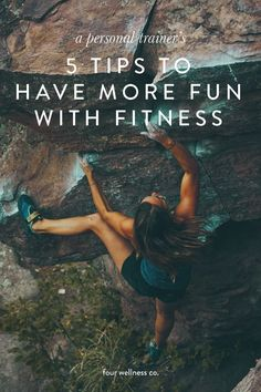 5 Tips to Re-Think Exercise // Four Wellness Co. - A personal trainer's 5 tips to have more fun with fitness // 5 tips for building a stress-free fi - Fitness Workouts, At Home Workouts, Fitness Tips, Free Fitness, Fitness Plan, Fitness Motivation, Enjoy Fitness, Beginner Workouts, Exercise Workouts