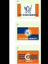 **HOT RARE * NWT FC CINCINNATI Futbol SOCCER Flag, 3x5' ft Flag  *LIMITED SUPPLY