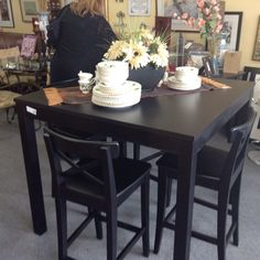 Pub Height Table and Chairs - pub height table and 4 chairs.  Item 1214-1.  Price $460.00   - http://takeitorleaveit.co/2016/06/07/pub-height-table-and-chairs/