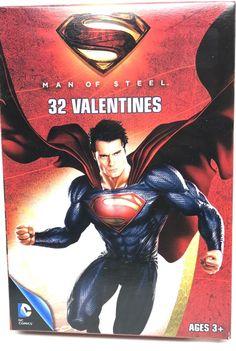 32 Valentines Cards Superman Men Of Steel Classroom Exchange Ages 3+ New